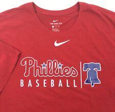New listing Philadelphia Phillies Mens 2XL Red Nike Tee Dri Fit TShirt MLB NWOT