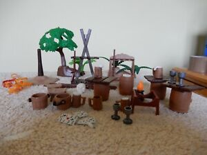 Playmobil accessories including tree and shrub from 1990s