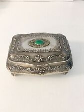 800 Silver Italy Jewelry Casket Box LARGE & HEAVY! 1,184 Grams
