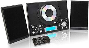 CD Player with USB FM Radio Remote Control Clock & Alarm GTMC-101 MK2 Black