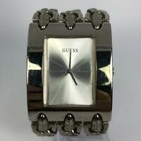 Guess Womens G87519L Silver Tone Stainless Steel Band Analog Watch