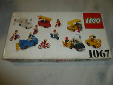 BOXED LEGO BUILDING BLOCK SET 1067 VINTAGE FIGURES AMBULANCE POLICE FIRETRUCK >>
