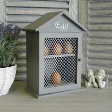 Grey Egg Holder Cabinet Kitchen Accessories  Storage Shabby Vintage Chic Rustic