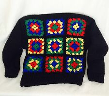 Vintage Child's Granny Square Sweater. Size 4-6 Long Sleeved