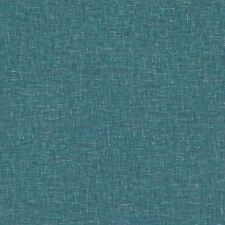 Linen Textured Wallpaper Arthouse Teal Plain Woven Effect Spongeable Luxury