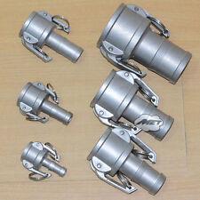 "1"" C Trash Pump Adapter Female CAMLOCK X Hose Barb Stainless Steel 316"