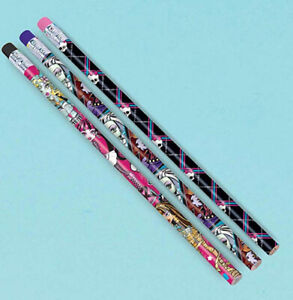 MONSTER HIGH dolls Birthday party supplies favors PENCILS 12 pcs