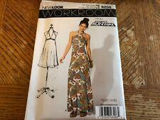 New Look Pattern 6206 Ms WORKROOM/PROJ RUNWAY Halter Dress 2 Lengths Sz 4-16