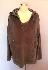 Women's Plain Velour Hooded Hoodies & Sweats