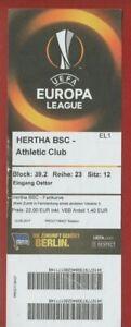 Orig.Ticket   Europa League  2017/18  HERTHA BSC BERLIN - ATHLETIC CLUB BILBAO !