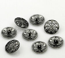 Flower Upholstery Metal Sewing Buttons