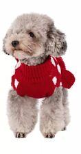 New listing kyeese Red Dog Sweaters Dress Polka Dot Dog Sweater Knit Warm Doggie Sweaters S