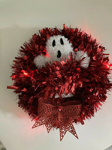 Ghostbusters Homemade Holiday Christmas Wreath Lights Up