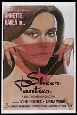 SHEER PANTIES Movie POSTER 27x40 John Holmes Annette Haven