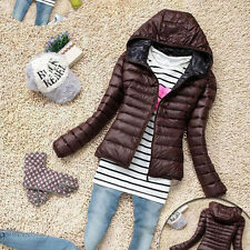US Women Winter Warm Hooded Parka Jacket Coats Unisex Casual Jacket Outwear Slim