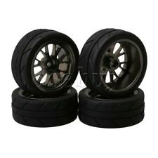 RC 1:18 Truck Rubber Tyres with Sponge & Y Shape Alloy Wheel Rims Pack of 4