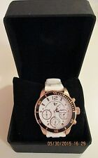 $1,379. MSRP 32 Degrees Esker Chronograph white dial and band new men's watch