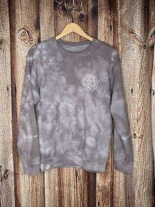 Supernatural Tye Dye Purple Womens Crewneck Small Pullover