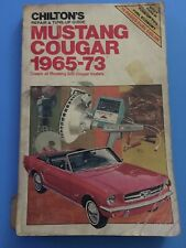 Chilton's Repair and Tune Up Guide Mustang/Courgar  1965-73