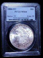 1884-CC $1 Morgan Silver Dollar - PCGS MS64 - Beautiful Frosty Carson City!