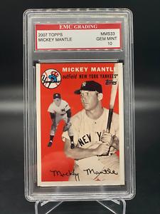 2007 Topps Story Mickey Mantle MMS33 Graded PSA EMC 10 Gem Mint NO RESERVE
