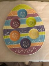 Hausenware Ceramic Easter Egg Tray Collectible Decorative Egg Shaped Colorful