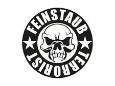 1 x 2 Plott Aufkleber Feinstaub Terrorist Plakette Auto Aufkleber Sticker Fun
