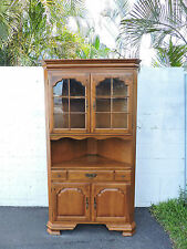 Vintage Solid Maple Large Corner Fitting Display Cabinet By Temple Stuart  7739 Part 89