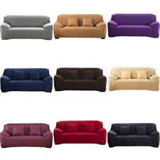 1/2/3 Seater Stretch Sofa Covers Slipcover Settee Couch Elastic Protector Pure