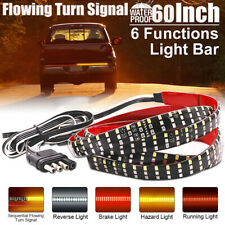 "Truck Tailgate Strip 60"" Triple LED Sequential Turn Signal Brake Reverse Light"