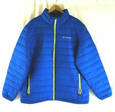 NEW Columbia Men's Blue and Green Oyanta Trail Thermal Coil Puffer Jacket Large