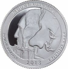 2013 ATB MOUNT RUSHMORE CLAD GEM PROOF DCAM STATE PARK QUARTER ROLL (40)