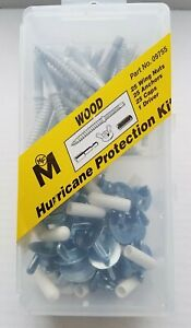 76pc Hurricane WOOD Hardware Shutter Kit with Anchors Wing Nut & Caps