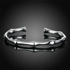 "Bracelet argent ""Silver Bamboo"" - Envoi de France immédiat"