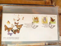 NEW ZEALAND 1991 BUTTERFLIES DEFINITIVE SET OF 3  FIRST DAY COVER
