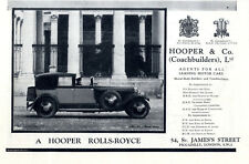 A HOOPER ROLLS-ROYCE By Appointment to the King & Queen Historische Annonce 1931