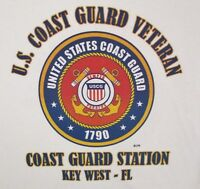 US COAST GUARD STATION KEY WEST-FL *COAST GUARD VETERAN EMBLEM*SHIRT