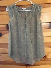MATILDA JANE Women's It's A Wonderful Parade MONARCH Butterfly Top Shirt EUC  XS