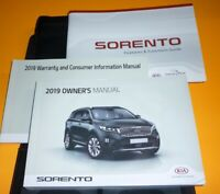2019 KIA SORENTO OWNERS MANUAL SET GUIDE 19 +case L LX S SX EX SXL I4 V6 2.4 3.3