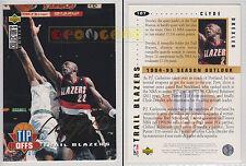 NBA UPPER DECK 1994 COLLECTOR'S CHOICE - Clyde Drexler #187 Gold Signat. Ita/Eng