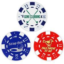 Golf Ball Marker Poker Chips, 3 chips (11.5 gram chips)