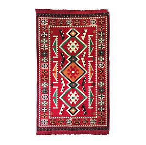 Turkish Kilim, Anatolian Rug Carpet, Ethnic Home Decor, Traditional Motifs