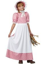 Pioneer Girl Costume Dress Childs Girls Prairie Thanksgiving Pilgrim