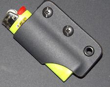 Black Kydex Survival Lighter sheath RCcustom