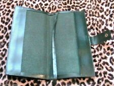 FRENCH LE TANNEUR 1940s RETRO TRAVEL MAP / BOOK HOLDER COVER~ GREEN LEATHER ~NEW