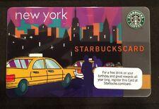 Rare 2010 New York City Taxi Starbucks NYC Card - New, Never Used & HTF