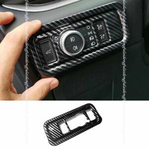 For Ford Explorer 2020-2021 Carbon Fiber headlight adjustment frame cover trim