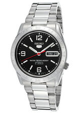 SEIKO Automatic SNKE13 SNKE13K1 Mens Black Dial See Through 21 Jewels 50m Watch
