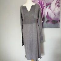 Noa Noa Womens Grey Knitted Tunic Dress Size M Long Sleeve Boho Lagenlook
