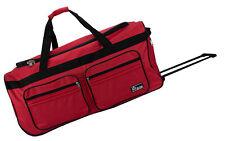 Große Reisetasche mit 2 Rollen Rollkoffer Weichgepäck Trolley Nylon Rot XL 130L